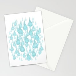 Raining Water Bears Stationery Cards
