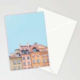 Warsaw Pastels - Poland Architecture, Travel Photography Stationery Cards