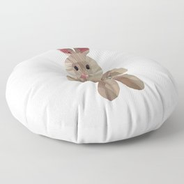 Wether plush toy low poly graphic Floor Pillow