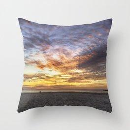 Good Harbor Beach Sunrise Throw Pillow