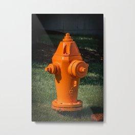 Clow F2500 Orange Fire Hydrant Fire Plug Fire Suppression Fire Fighting Metal Print