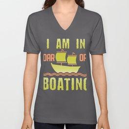 Boating Pun I am In Oar of Boating Unisex V-Neck