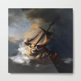 Rembrandt's The Storm on the Sea of Galilee Metal Print