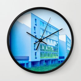 Apartment buildings with outdoor facilities Wall Clock