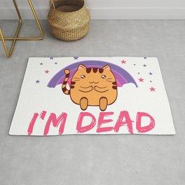Cat I'm Dead Inside Depression Kills Raise Awareness T-shirt Design Help Heal Comfort Talk Chat Free Rug