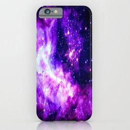 Purple Galaxy : Celestial Fireworks iPhone Case