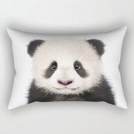 Baby Panda Bear Print by Zouzounio Art Rectangular Pillow
