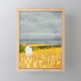 There's a ghost in the wheat field again... Framed Mini Art Print
