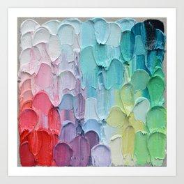 Polka Daub Feathers Art Print