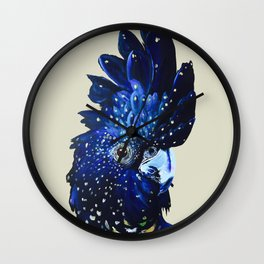 """Amelia"" The Red Tailed Cockatoo Wall Clock"