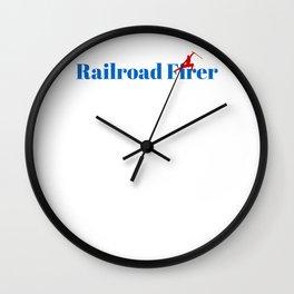 Railroad Firer Ninja in Action Wall Clock