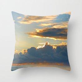 Sun and Rain Throw Pillow