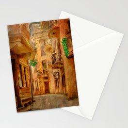 Italian City Street Stationery Cards