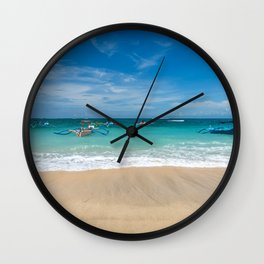 Kuta beach in Bali Wall Clock