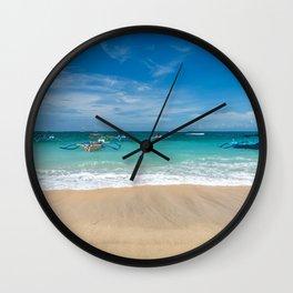 Kuta beach in Bali Wall Clock