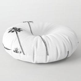 Black + White Palms Floor Pillow