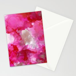 alcohol ink  - fuschia Stationery Cards