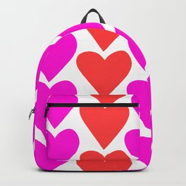 Pink and Red Hearts Backpack