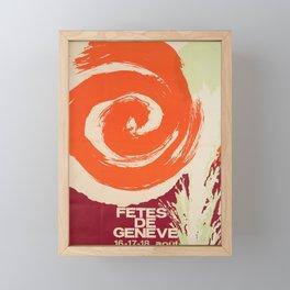 Nostalgie fetes de geneve g Framed Mini Art Print