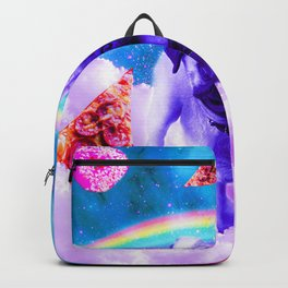 Rainbow Unicorn Pug In The Clouds In Space Backpack