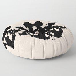 Black Rorschach inkblot Floor Pillow