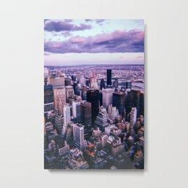 New York City // Retro 32 Metal Print