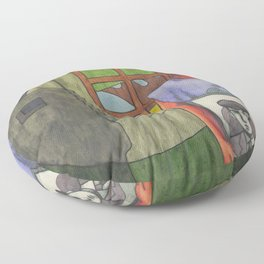 The End of the World Floor Pillow