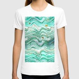 Green Geode Watercolor T-shirt