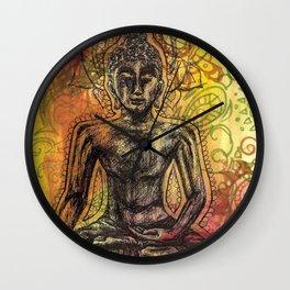 Meditating Buddha  Wall Clock