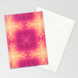 Golden Heart Pink Stationery Cards