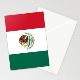 Mexican national flag Stationery Cards