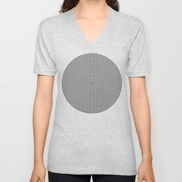 Concentric Dots Unisex V-Neck