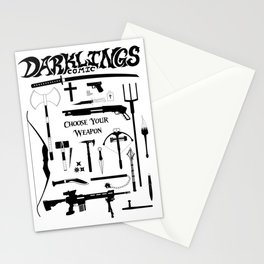 Choose Your Weapon Stationery Cards