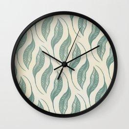 Peace Lily Leaf Wall Clock