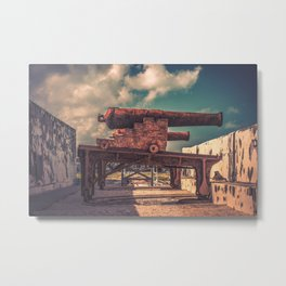 Protectors of Nassau Fort Charlotte Cannon Placement Bahamas Metal Print