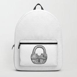 Dotwork padlock Backpack