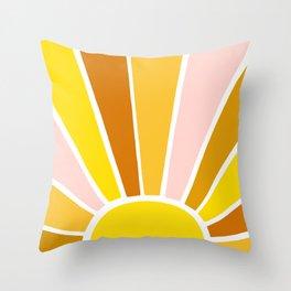 Sun Ray Burst Throw Pillow