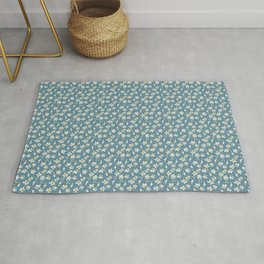Romantic Blue Pattern Theme Rug