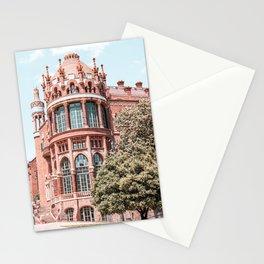 Santa Creu Hospital Barcelona, Sant Pau Landmark Art Print, Barcelona Urban Landmark Modernist Architecture Stationery Cards