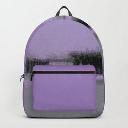 Abstract Purple and Grey Shades Santa Monica Pier Backpack