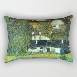 """Gustav Klimt """"Schloss Kammer on the Attersee"""" II. Rectangular Pillow"""