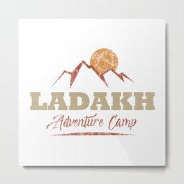 Ladakh Camping  TShirt Adventure Camp Shirt Camper Gift Idea Metal Print