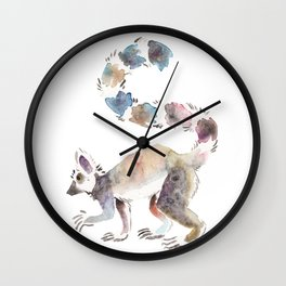 Splotchy Lemur Wall Clock