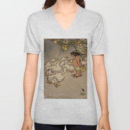 Hiroshige - Japanese Art Unisex V-Neck
