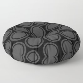 Black and Grey Circles | Mod Graphic Pattern #2 | Nadia Bonello | Canada Floor Pillow