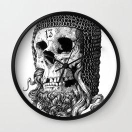 Templar Skull Wall Clock