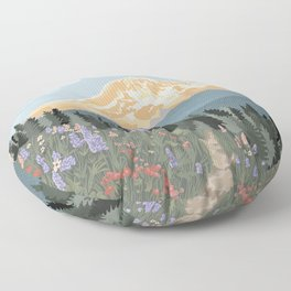 Mount Rainier National Park Floor Pillow