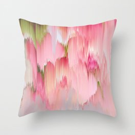 Artsy abstract blush pink watercolor brushstrokes Throw Pillow