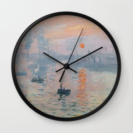 Claude Monet fine art - Impression, Sunrise Wall Clock