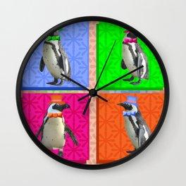 Perfect Penguin Portraits Wall Clock